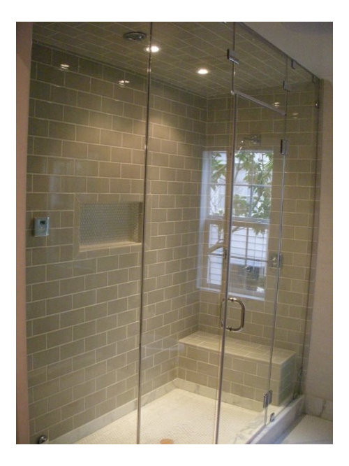 elegant bathroom photo in los angeles - Steam Shower Units
