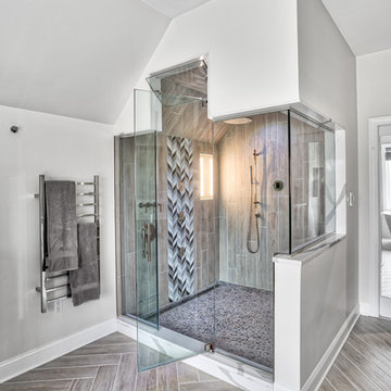 Steam Therapy Shower with Towel Warming Rack
