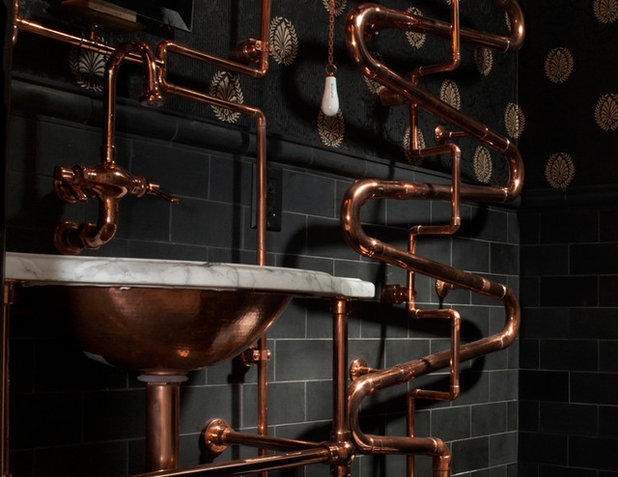 Steampunk for the powder room for Steampunk kitchen accessories