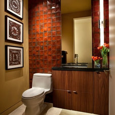 Eclectic Bathroom by Identity Construction