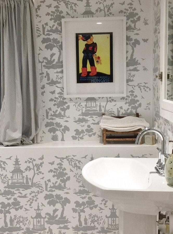 Stencil Bathroom in Larchmont