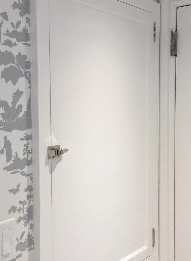 Stencil Bathroom in Larchmontoilet