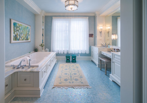 American Traditional Bathroom by Drew Gray Photography