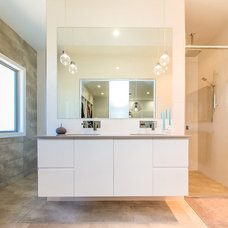 Modern Bathroom by Capricorn Engineering & Drafting Services