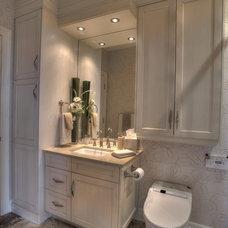 Transitional Bathroom by Kendel-Dezoete Designs, Ltd.