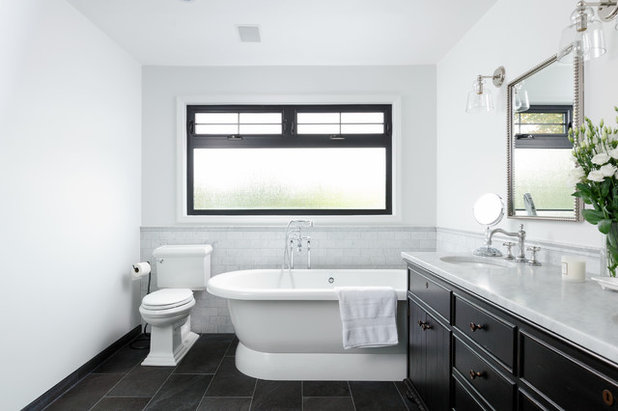 Traditional Bathroom by Strokes Fine Painting & Renovations