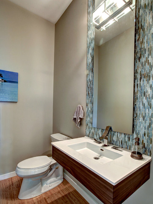 Bathroom Design Ideas, Remodels & Photos with Bamboo Floors