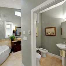 Transitional Bathroom by B. Gallant Homes Ltd.