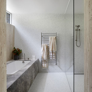 Stone and terrazzo bathroom