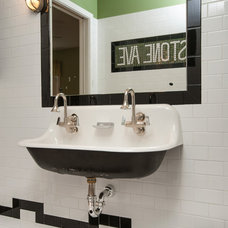 Eclectic Bathroom by Malay Homes Inc.