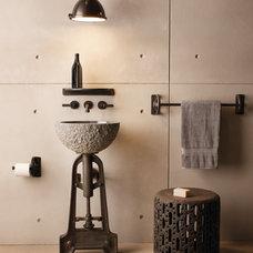 Industrial Bathroom by Hudson Valley Lighting