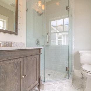 Inspiration for a coastal bathroom remodel in Philadelphia