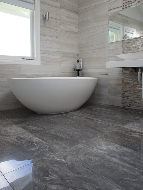 Stone Look Tile Bathroom