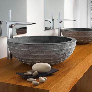 Stone Puket Black Luxury Natural Stone Sink