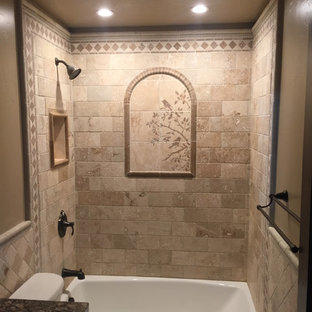 Stone shower remodel