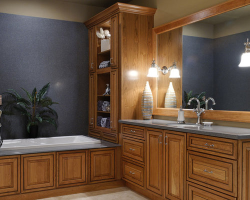 honey oak cabinets houzz