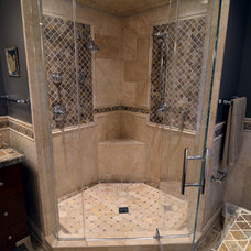 Mediterranean Bathroom by Prava Luxury Tile & Stone