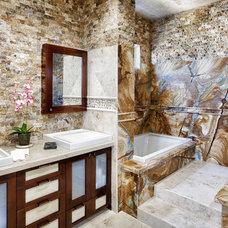 Traditional Bathroom by M S International, Inc.