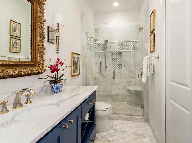 Guest bathroom gets a luxe hotel feel for Decor your hotel