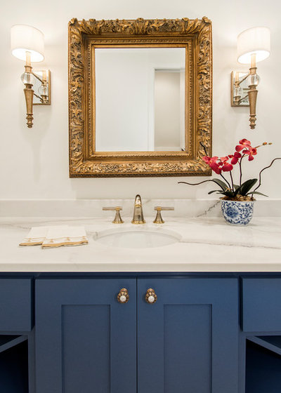 Unique Rustic Bathroom by EURO Design Build