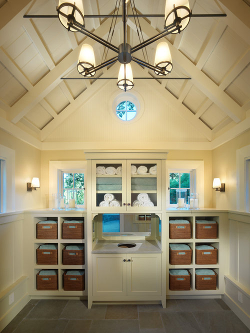 hidden laundry hamper design ideas  remodel pictures  houzz, Home decor