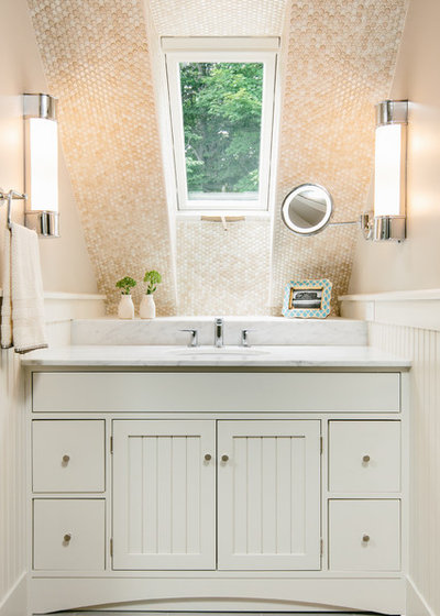Transitional Bathroom by Holly Hickey Moore