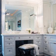 Transitional Bathroom by Timothy Johnson Design