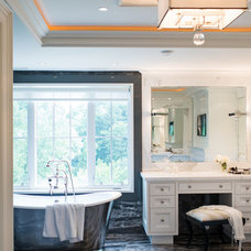Transitional Bathroom by Timothy Johnson Design