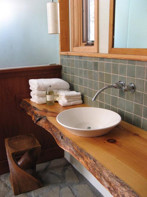 large modern master green tile and ceramic tile bathroom idea in burlington with recessed panel - Recessed Panel Bathroom Decoration