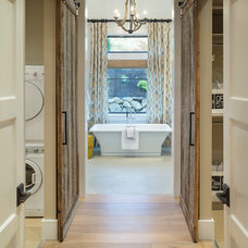 Transitional Bathroom by Alan Mascord Design Associates Inc