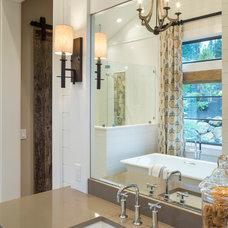 Transitional Bathroom by Alan Mascord Design Associates Inc