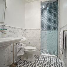 Transitional Bathroom by Eva Quateman Interiors