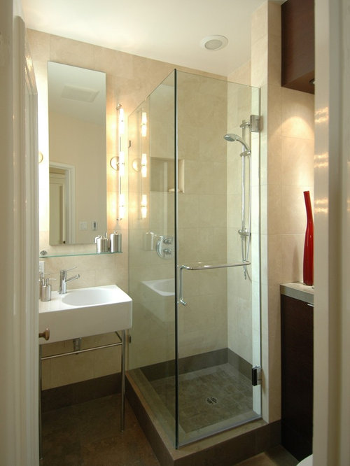 Contemporary stone tile bathroom idea in San Francisco