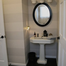 Traditional Bathroom Striped Bathroom