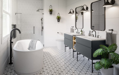 See the Latest Trends in Bathroom Faucets, Showers, Tubs and More