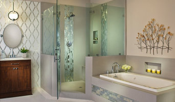 Stunning & serene custom bathroom.