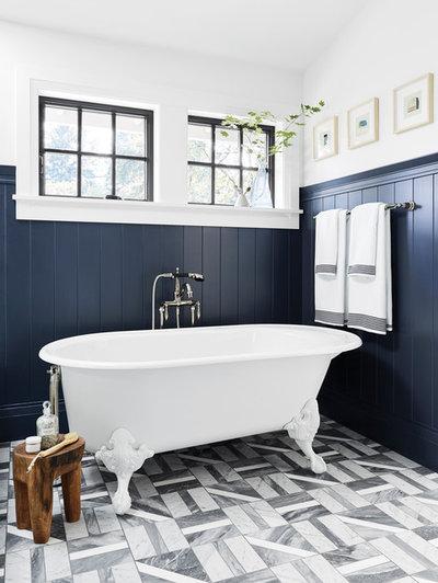 Country Bathroom by Milgard Windows & Doors