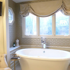 Transitional Bathroom by Susan Brook Interiors