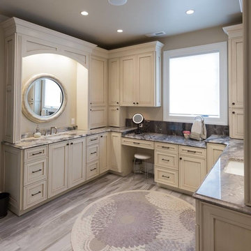 Stunning Master Bathroom with Arabescato Marble