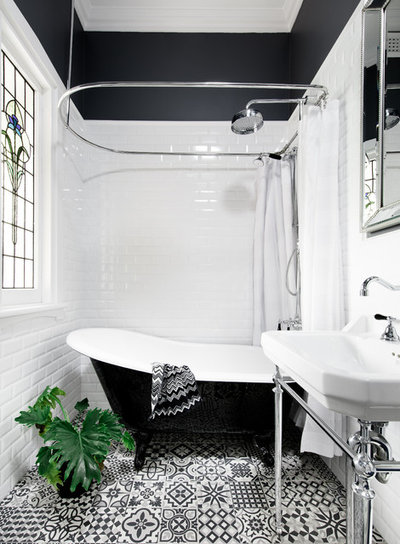 Transitional Bathroom by Three Little Pigs Colour & Design