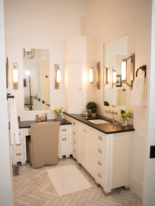 Shaped Vanity Home Design Ideas, Pictures, Remodel and Decor