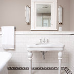 Subway Tile Shower - Traditional - Bathroom - minneapolis - by Clay Squared to Infinity