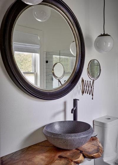 Farmhouse Bathroom by Elizabeth Eason Architecture LLC