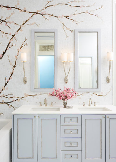 Fusion Bathroom by Caroline Beaupere Design