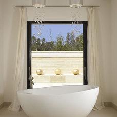 Mediterranean Bathroom by Amy Noel Design