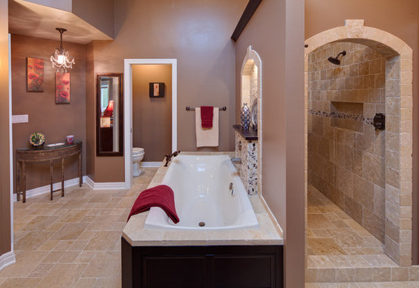 Mediterranean Bathroom by Gina Bon, Airoom Architects & Builders LLC