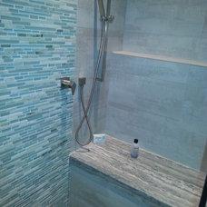 Contemporary Bathroom by Tile & Stone Design Studio