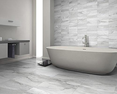 Vasca Da Bagno Di Zinco : Bagno con top in zinco e piastrelle in ceramica foto idee