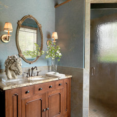 Traditional Bathroom by Diane Rosen Interiors LLC