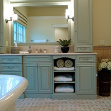 Traditional Bathroom by Katherine Elizabeth Designs